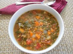 Veggie Lentil Soup! With warm bread so good!