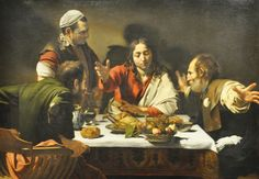 After the death of Christ, two disciples traveling down the road to Emmaus met a stranger and invited him to join them.  At supper the stranger blessed the bread and broke it to give to the disciples.  Immediately the disciples saw the stranger was Christ risen from the dead. Caravaggio's painting is part of London's National Gallery of Art's permanent collection, but in 2009, the painting was lent to the Art Institute of Chicago for three months and I was fortunate enough to see it…