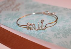 Dainty oui Bracelet. $21.00, via Etsy  - I wear this to DEATH. Love.