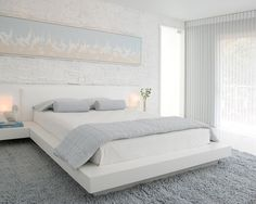 Contemporary Bedroom Blue White Grey Design, Pictures, Remodel, Decor and Ideas - page 6