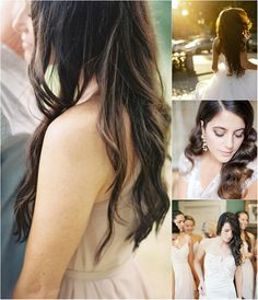 easy and trend wavy hairstyle for wedding by clip on long brown wavy hair extension