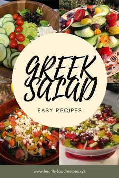 The traditional Greek salad recipe; healthy, simple and absolutely delicious! Find out how to make this Horiatiki (Xoriatiki) salad the traditional Greek way with this authentic recipe. Greek Yogurt Salad Dressing, Yogurt Salad Dressings, Greek Chicken Salad, Greek Quinoa Salad, Greek Salad Pasta, Greek Salad Recipe Authentic, Easy Greek Salad Recipe, Greek Salad Recipes, Easy Salad Recipes