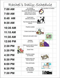 18 month old daily schedule....I need a schedule for chloe....