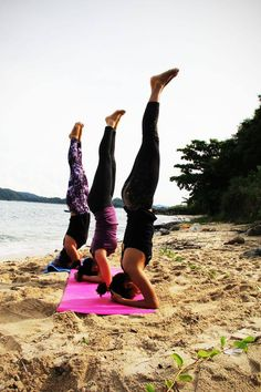 Three little headstands all in a row #yoga