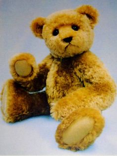 """Fraiser Bear Pattern from Springtime Designs includes instructions for making a 22"""" jointed teddy bear."""