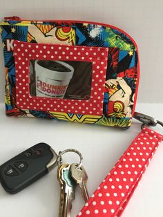 Wonder Woman Clara Companion Phone & Wallet Wristlet ,  Cellphone and Key Holder by JazzyJoDesigns on Etsy