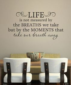 Take A Look At This Belvedere Designs Black U0027Life Is Not Measuredu0027 Wall  Quote
