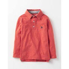 Boden Genopptes Jaspé-Poloshirt Orange Jungen Boden