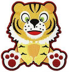 Tiger surprised machine embroidery design. Machine embroidery design. www.embroideres.com
