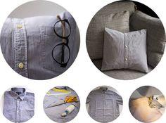 Transformer des chemises en housses de coussins déco