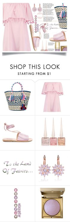 """lilac."" by katiacsilva ❤ liked on Polyvore featuring YOSUZI, Boohoo, Ancient Greek Sandals, Christian Louboutin, Market, Stila, Dolce&Gabbana and Tiffany & Co."