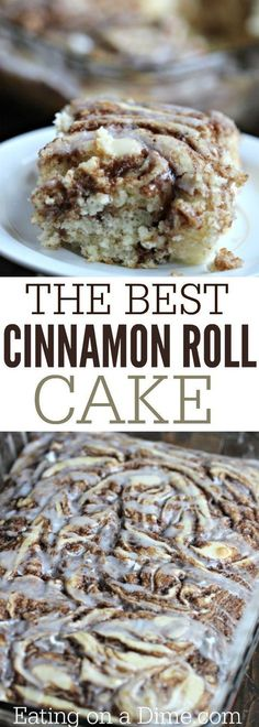 Here is a fun twist on a coffee cake recipe. This easy cinnamon roll cake recipe… Here is a fun twist on a coffee cake recipe. This easy cinnamon roll cake recipe is the best. Get the taste of homemade cinnamon rolls without all the work. Easy Cake Recipes, Easy Desserts, Sweet Recipes, Baking Recipes, Delicious Desserts, Yummy Food, Easy Coffee Cake Recipe, Healthy Recipes, Easy Birthday Desserts