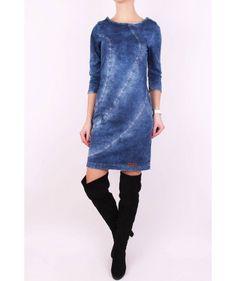 Trendy rifľové šaty
