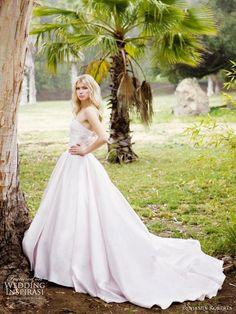Benjamin Roberts wedding dresses 2011 - light pink silk ball gown with plain full skirt -- Benjamin Roberts Wedding Gowns 2011