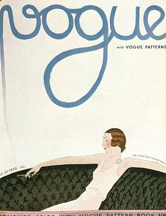 July 1930**. art or fashion mag with vintage angle