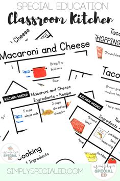 Do you Have a Classroom Kitchen A classroom kitchen can be a great tool to teach your students in your special education classroom. Use these real recipes to help your students learn life skills that will help them cook at home in the future. Life Skills Classroom, Teaching Life Skills, Teaching Special Education, School Classroom, Student Learning, Student Data, Education Logo, Classroom Ideas, Dogue De Bordeaux