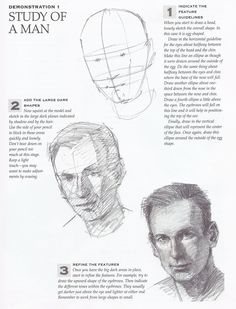 DESIGN REFERENCES: Drawing Tutorial; the Study of a Man