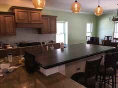 Custom wood island top made of African Wenge. Custom Countertops, Wood Countertops, Wood Islands, Wood Vanity, Wood Bars, Custom Wood, Wood Species, Wood Table, African