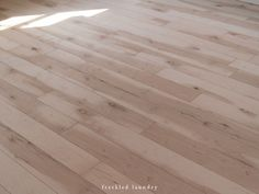 Tutorial on installing flooring from Maple plywood cut into planks.