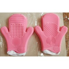 1pcs Two Layer Silicone 2 Finger Makeup Foundation Brush Cleaner Glove Cleaning -- BuyinCoins.com