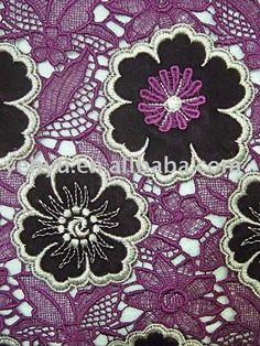 embroidered lace by the yard | purple applique embroidery lace fabric, View embroidery lace fabric ...