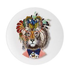 Christian Lacroix - LWYW Jungle King Dessert Plate
