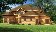 """""""The Williamsburg II"""" is one of the many log cabin home plans from Southland Log Homes. You can customize the Williamsburg II to meet your exact needs with our free design tools."""