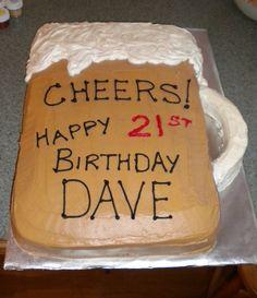 21st Bday cake