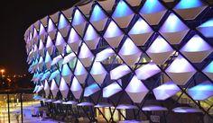 Hazza Bin Zayed Stadium – StadiumDB.com  Capacity25 000 3,000 (Business seats) CountryUnited Arab Emirates CityAl-Ain ClubsAl-Ain Club Floodlights1,700 lux Inauguration23/01/2014 (Al Ain - Al Dhafra) Construction07/2012 - 28/12/2013 Cost€ 145 million DesignPattern Design Ltd, schlaich bergermann und partner ContractorBAM International, BAM Sports AddressHamdan Bin Mohammad St., Al Ain, United Arab Emirates