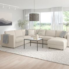 VIMLE Corner sofa-bed, - with chaise longue, Gunnared beige - IKEA U Couch, Beige Couch, Ikea Sectional, Sectional Sleeper Sofa, Ikea Couch, U Shaped Sectional Sofa, Sofa U Form, Sofa Back Cushions, Diner Decor