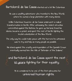 Can we please celebrate Bartolomé de las Casas and call it Bartolomé Day instead? -- Christopher Columbus was awful (but this other guy was not) - The Oatmeal False Facts, Teaching Us History, Indigenous Peoples Day, Save Our Earth, Christopher Columbus, Columbus Day, Schools First, Do What Is Right, Good To Know