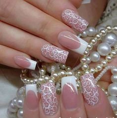 Not a huge fan of really long square tip nails but these are really pretty