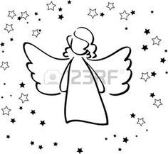 ange: Ange et étoiles Illustration