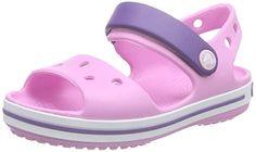 awesome Crocs Crocband Sandal K Zuecos, Bebé-niños, Rosa (Carnation/Blue Violet), 28-29 EU (11 Child UK)