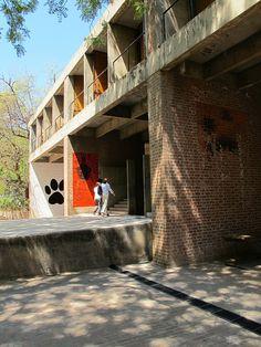 CEPT University, B.V. Doshi, Ahmedabad by carlo.fumarola, via Flickr Tropical Architecture, Facade Architecture, Landscape Architecture, Ryue Nishizawa, University Architecture, Inside Outside, Ahmedabad, Architect Design, School Design