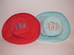 Cute sun hats with SPF50!  Save your face!  by Sew Sew Swell