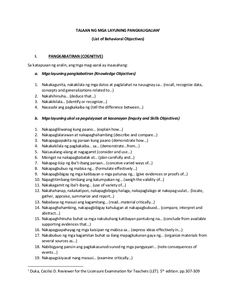Behavioral Objectives in Filipino Lesson Plan Examples, Lesson Plans, Blooms Taxonomy Verbs, Bloom's Taxonomy, Word Work Games, Hygiene Lessons, Instructional Technology, Instructional Strategies, Classroom Rules Poster