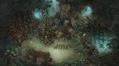 Inside 3D - 트리 오브 세이비어 배경원화 모음
