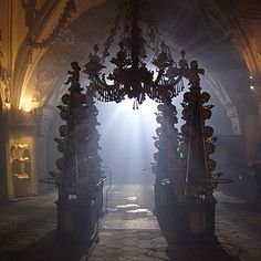 The Sedlec Ossuary, Czech Republic - Can't even tell what this is,lol! Some kind of chapel? Weird! :)  - The World's Strangest Tourist Attractions   Reader's Digest