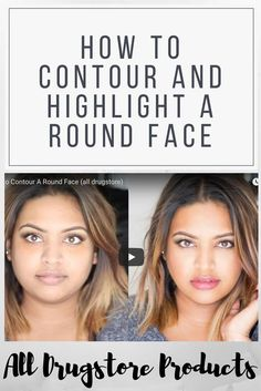 How to Contour a Round face using all drugstore products! I've always had a … How to Contour a Round face using all drugstore products! Face Shape Contour, Contour For Round Face, How To Contour Your Face, Round Face Makeup, Fat Face Haircuts, Haircuts For Round Face Shape, Hairstyles For Fat Faces, Hair For Round Face Shape, Contour Makeup