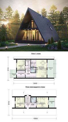 Are A-frame Cabin Kits Worth it? Tiny House Cabin, Tiny House Design, Cabin Homes, My House, Cottage House, Tiny Homes, Cabins In The Woods, House In The Woods, Small House Plans