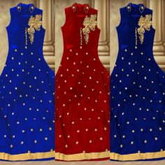 Checkout this new arrival embroidered anarkali suit in three different colors  Product Info : Top : Banglori + georgette with heavy emb. Work and 2.5 meter flair Inner : Two meter heavy santoon Bottom : Two meter heavy santoon Duppatta : Silk Net Size : Stich UpTo 44 Colour- Royal Blue,Mehroon, Dark Blue  Price : 1600 INR Only ! #Booknow  CASH ON DELIVERY Available In India !  World Wide Shipping ! ✈  For orders / enquiry 📲 WhatsApp @ +91-9054562754 Or Inbox Us , Worldw..