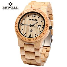 Bewell ZS-W086B Luxury Brand Wood Watch men Analog Quartz Movement Date Waterproof Male Wristwatches relogio masculino 2016 Like and Share if you agree!  #shop #beauty #Woman's fashion #Products #Watch