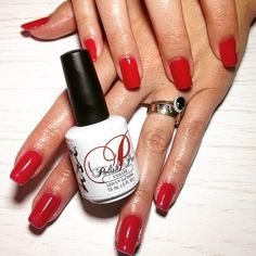 NSI Polish Pro Signature Gel Polish - Red Rock | Rockin' Red Nails