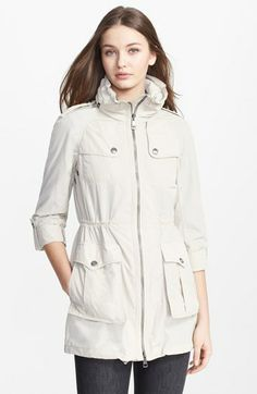 Burberry Brit 'Badgeford' Rain Coat available at #Nordstrom