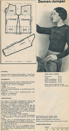 Spinnerin knit and crochet patterns from the 1930s.  (How hard could it be to translate from the German?)