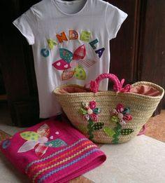 Conjunto personalizado, Bolsos y carteras, Bolsos, Ropa, Camisetas, Hogar, Cuarto de baño, Textil, Patchwork Crochet Girls, Straw Bag, Little Girls, Diy And Crafts, Weaving, Tapestry, Purses, Accessories, Beach Bags