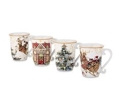 T'was The Night Before Christmas Mugs, Multi Set of 4 #williamssonoma