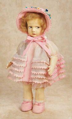 De Kleine Wereld Museum of Lier: 292 Italian Felt Character Doll by Lenci in Original Costume,with Box