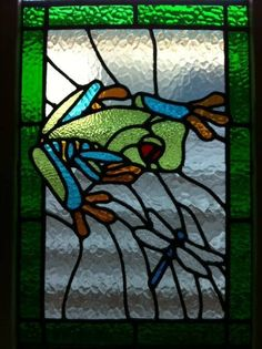 stained glass frog - pattern by Chantal's stained glass patterns